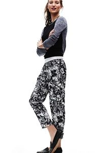 Theory lucienne preprexing print ankle pants